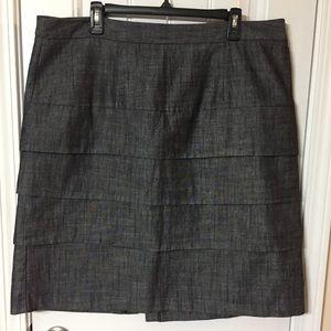Cato Woman Plus Size Denim Tiered Skirt